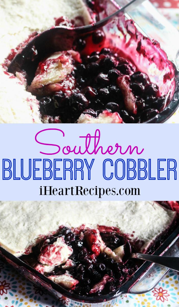 Southern Blueberry Cobbler  Southern Blueberry Cobbler