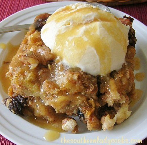 Southern Bread Pudding  The Southern Lady Cooks – NUTTY APPLE BREAD PUDDING