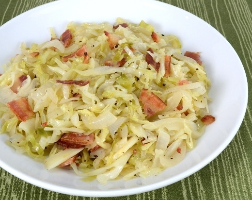 Southern Cabbage Recipe  Southern Fried Cabbage and Bacon Ethnic Foods R Us