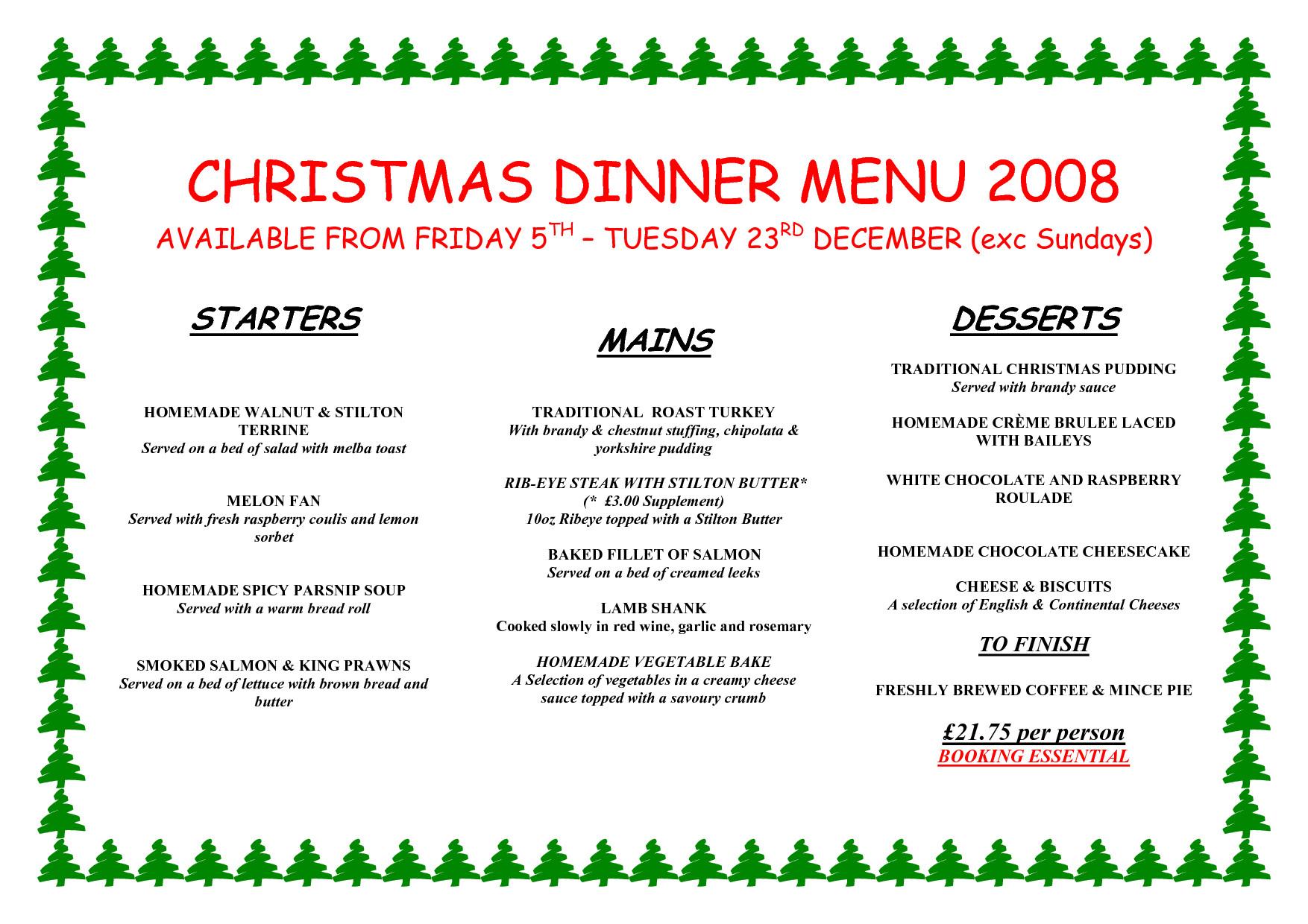 Southern Christmas Dinner Menu Ideas  Christmas Dinner Menu Ideas – Happy Holidays