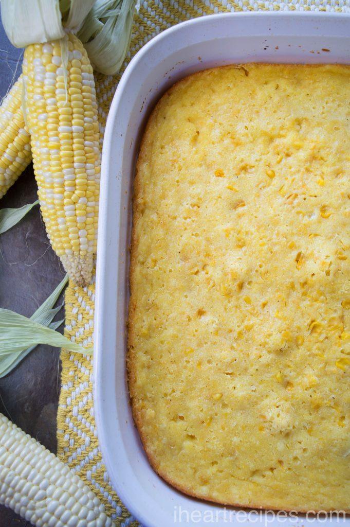 Southern Corn Pudding Recipe  Southern Corn Pudding Casserole