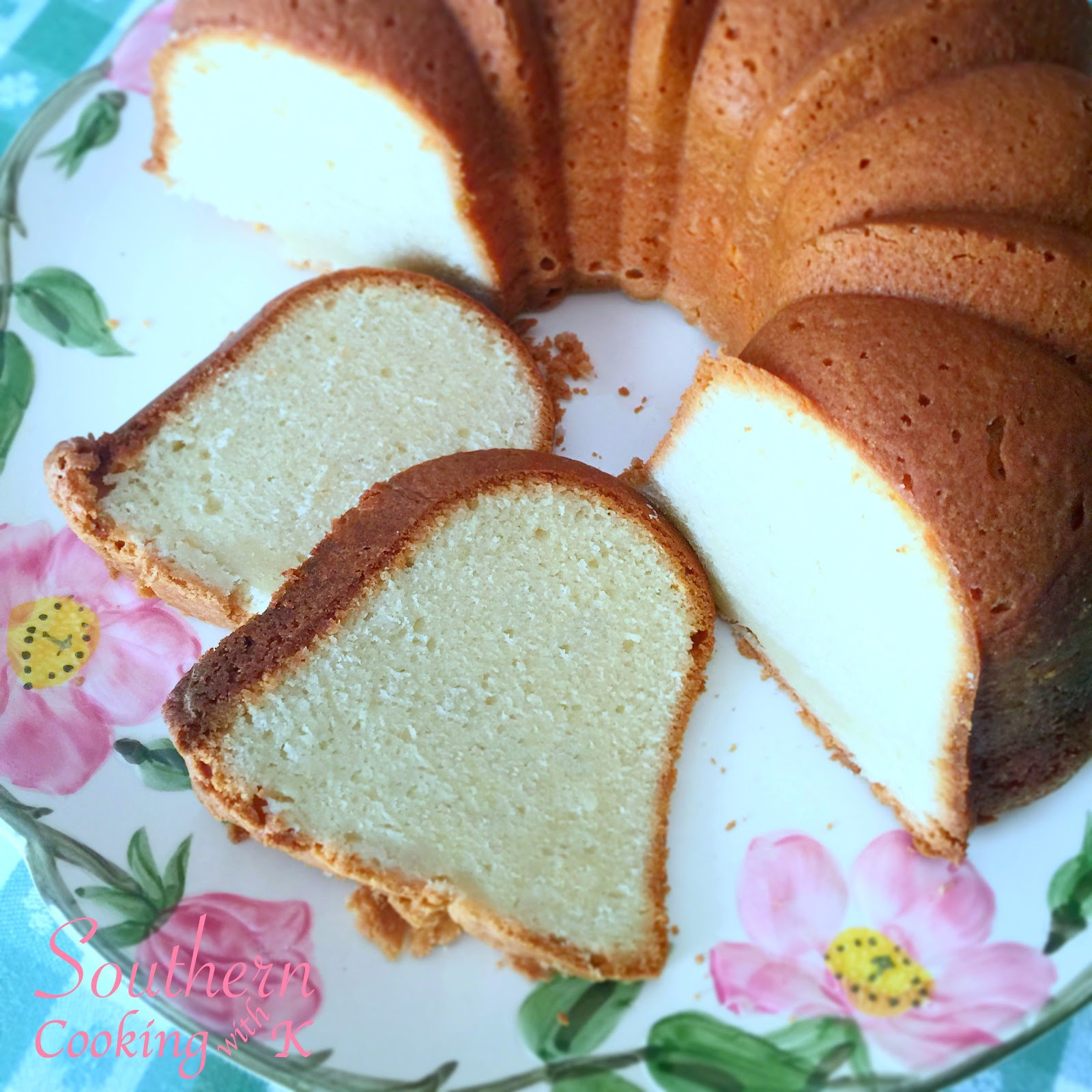 Southern Cream Cheese Pound Cake  Southern