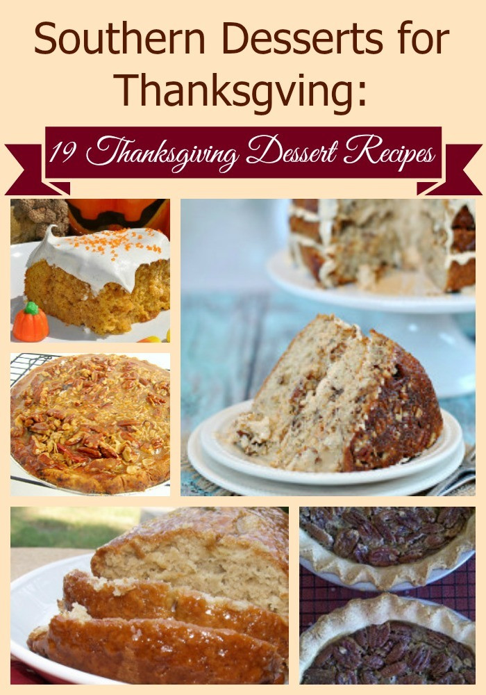 Southern Dessert Recipes  Southern Desserts for Thanksgiving 19 Thanksgiving