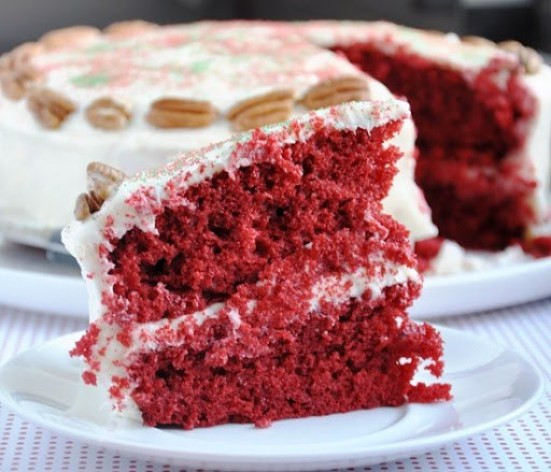 Southern Red Velvet Cake  Southern Red Velvet Cake w Cream Cheese Frosting & Merry