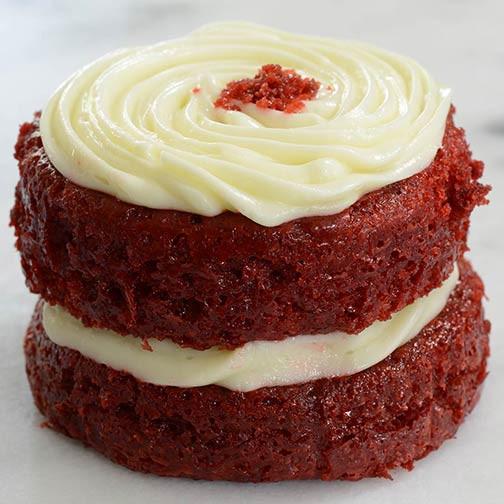 Southern Red Velvet Cake  Southern Red Velvet Cake Individual Portion