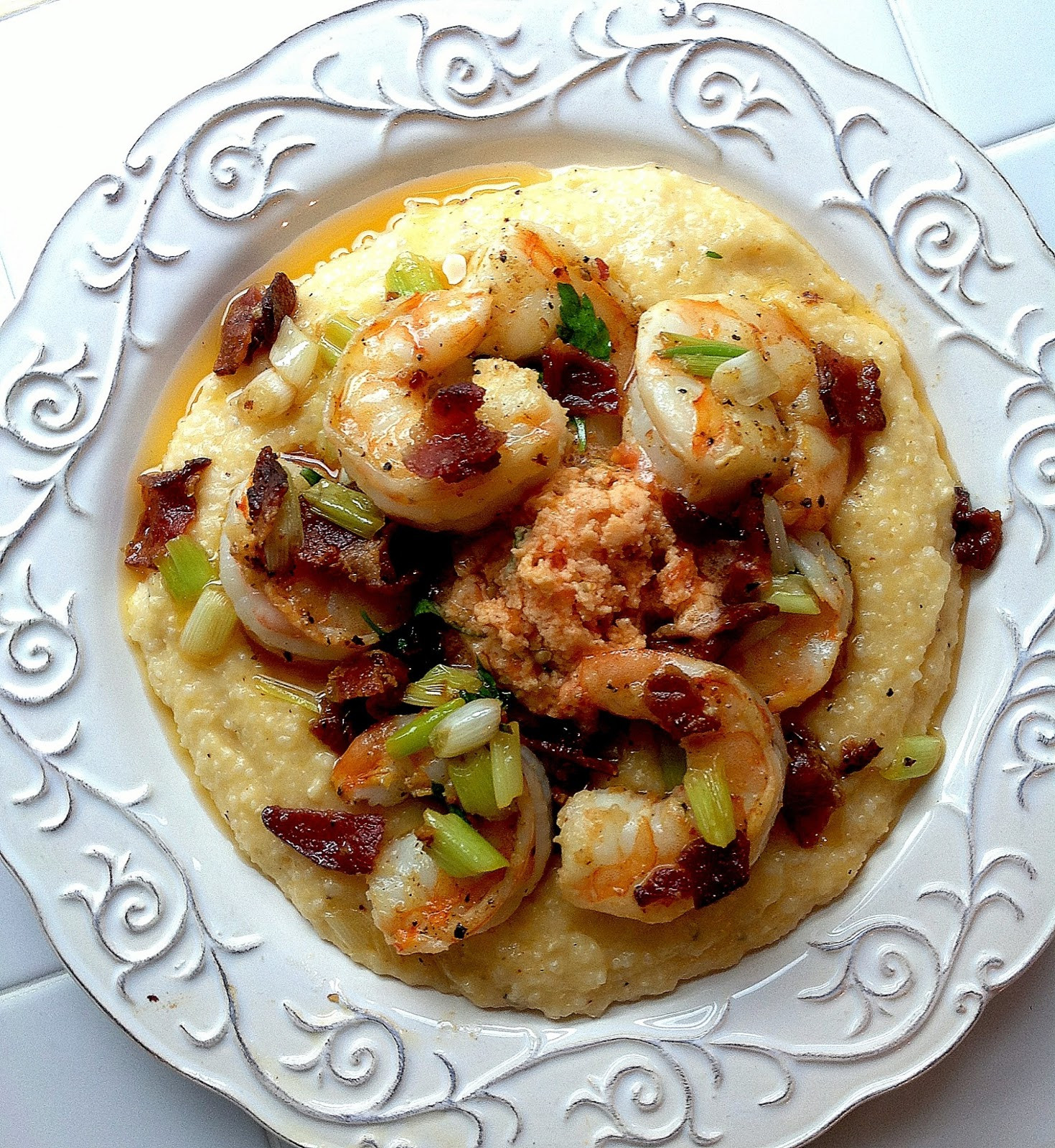 Southern Shrimp And Grits  Southern Shrimp and Grits with Bacon & Tomato Butter