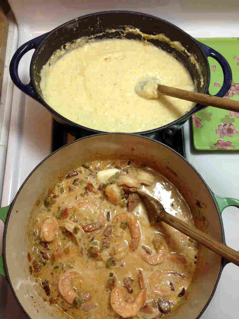 Southern Shrimp And Grits  Kitchen Window — True Grits Getting In Touch With Your