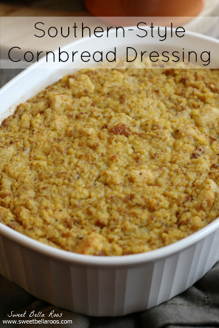 Southern Style Cornbread Dressing  Southern Style Cornbread Dressing Grace and Good Eats