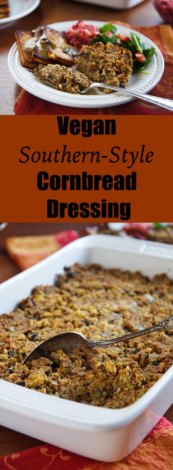 Southern Style Cornbread Dressing  Vegan Southern Style Cornbread Dressing