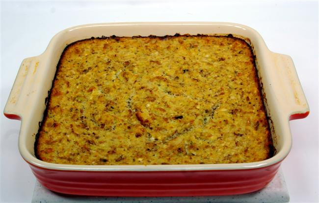 Southern Style Cornbread Dressing  old fashioned cornbread dressing southern style