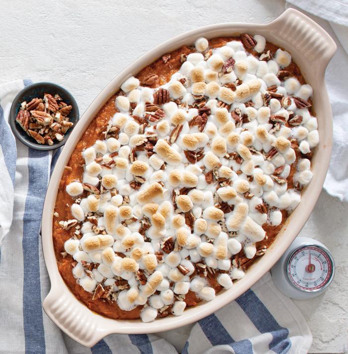Southern Sweet Potato Casserole Marshmallows  sweet potato casserole paula deen