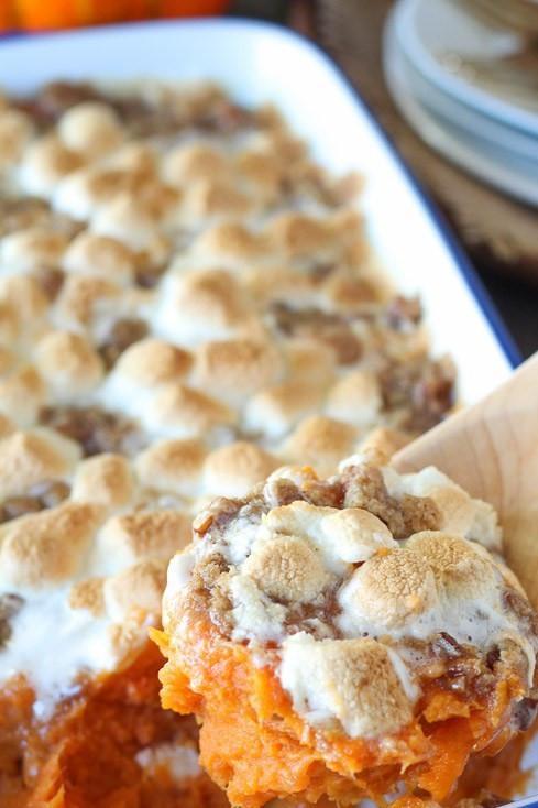 Southern Sweet Potato Casserole Marshmallows  Sweet Potato Casserole – Southern Cooking with a Midwest Twist