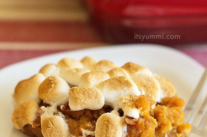 Southern Sweet Potato Casserole Marshmallows  Its Yummi Deliciously nutritious dishes from the heart