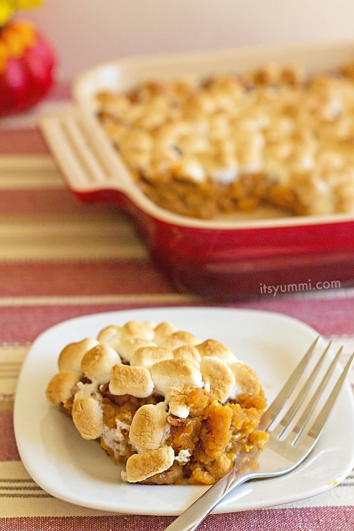 Southern Sweet Potato Casserole Marshmallows  Quick n Easy Southern Sweet Potato Casserole Recipe