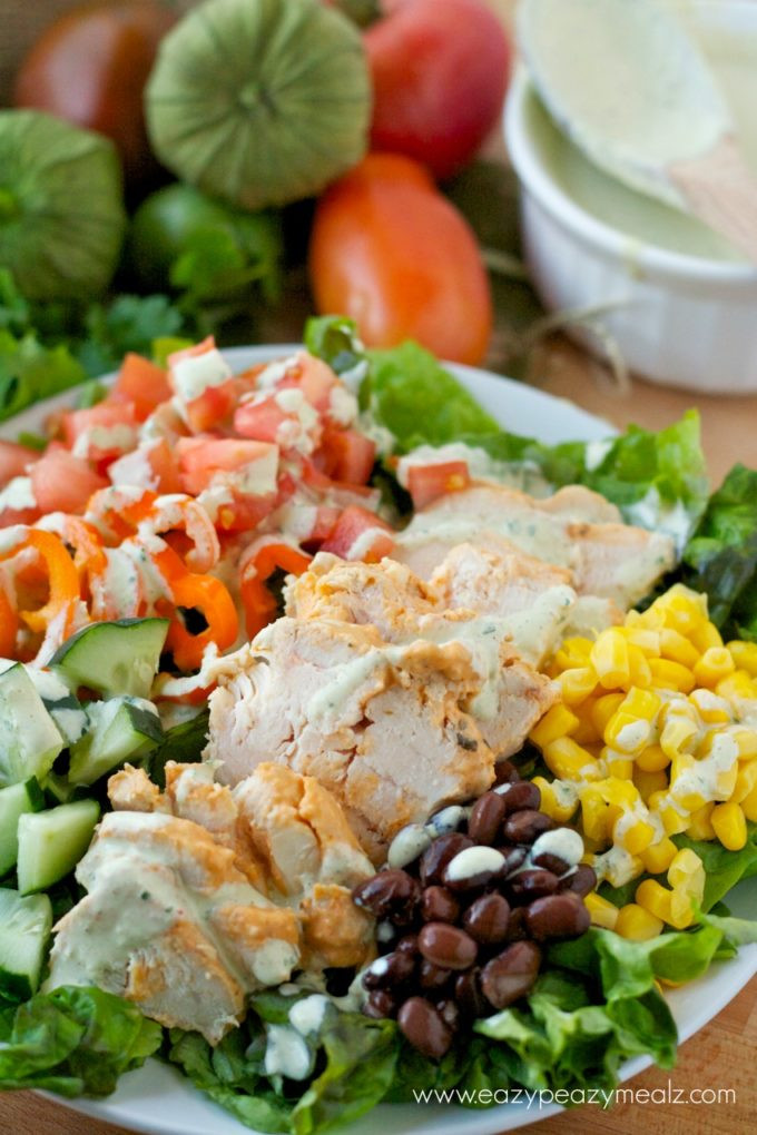 Southwest Chicken Salad Recipe  Southwestern Chicken Salad Eazy Peazy Mealz