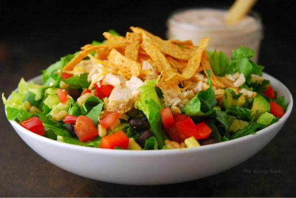 Southwest Chicken Salad Recipe  Chicken Fajita Southwest Salad The Gunny Sack