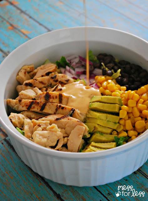 Southwest Chicken Salad Recipe  Southwest Chicken Salad Recipe Mess for Less