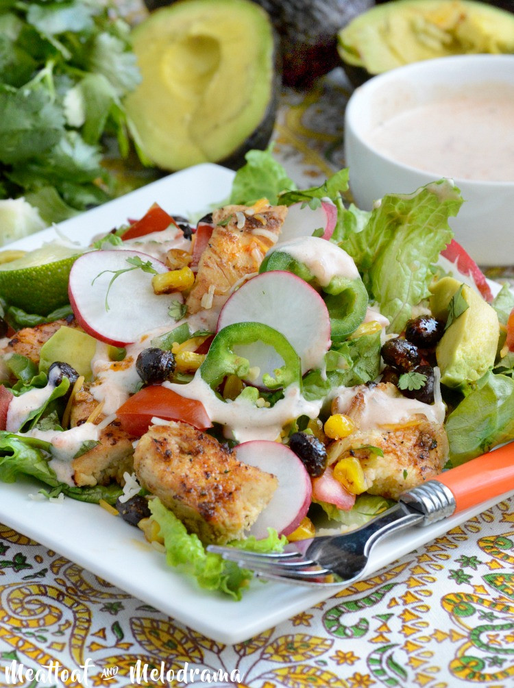 Southwest Chicken Salad Recipe  Loaded Southwest Chicken Salad Meatloaf and Melodrama