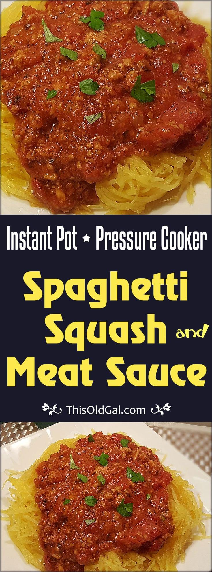 Spaghetti Squash In Pressure Cooker  Instant Pot Pressure Cooker Spaghetti Squash and Meat