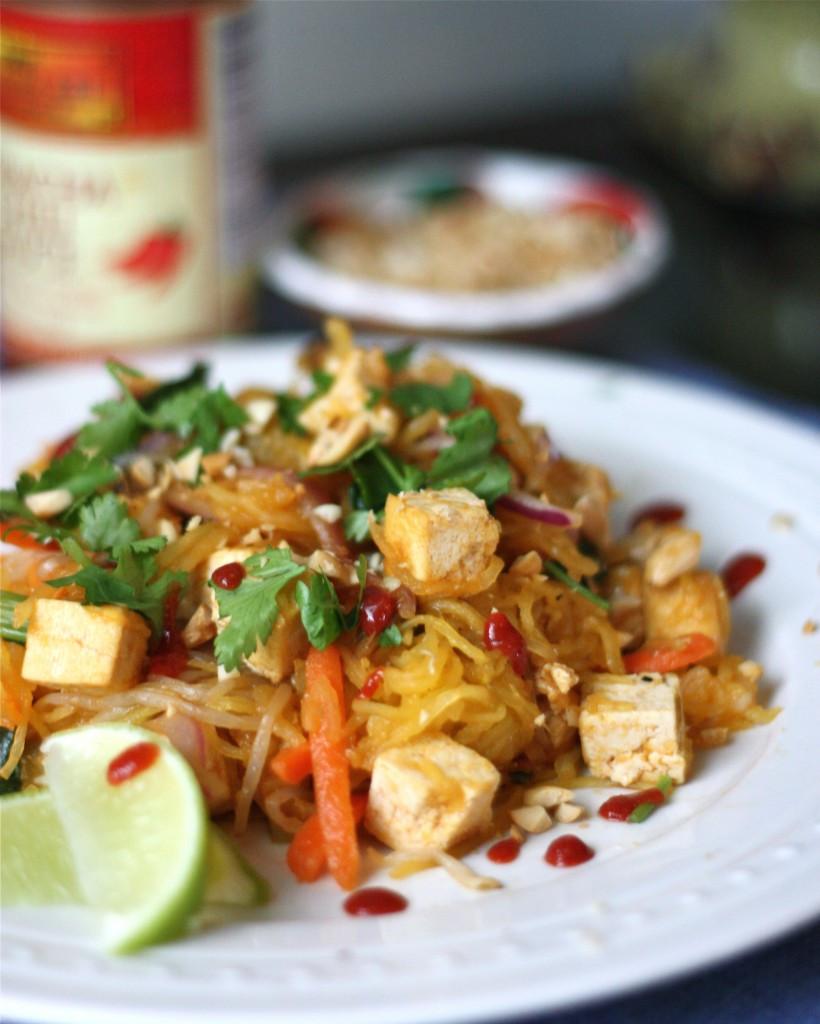 Spaghetti Squash Pad Thai  Spaghetti Squash Pad Thai Get f Your Tush and Cook