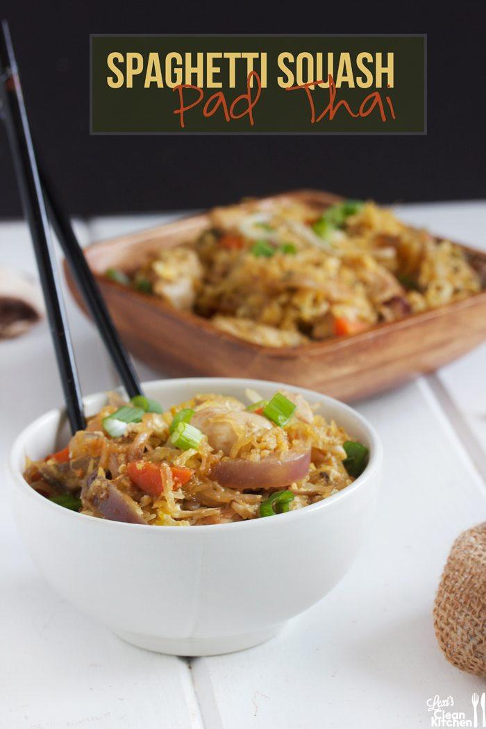 Spaghetti Squash Pad Thai  Spaghetti Squash Pad Thai Lexi s Clean Kitchen