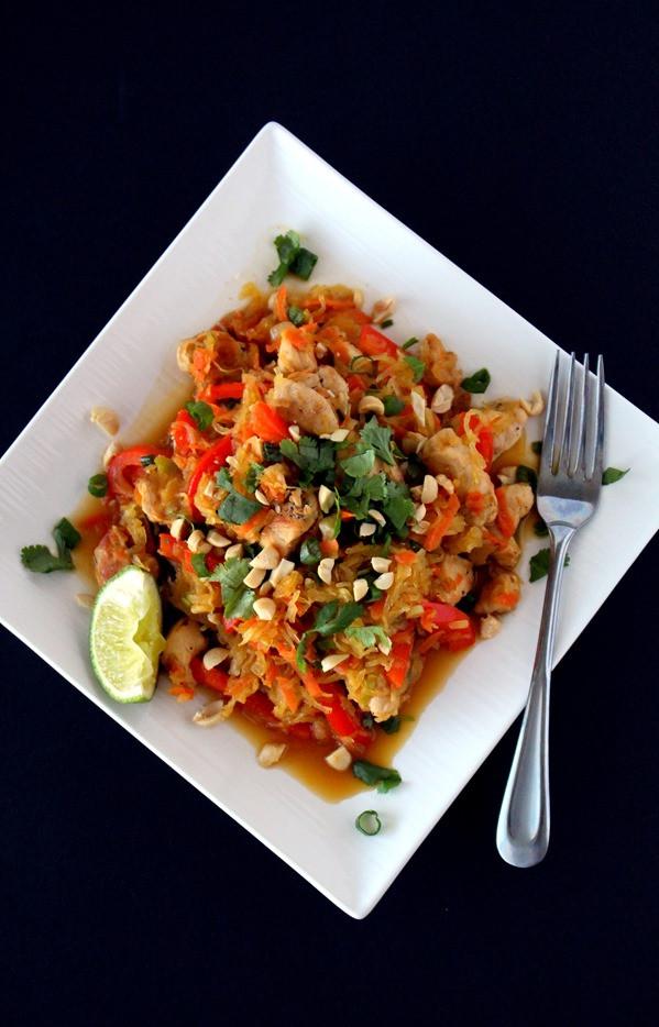 Spaghetti Squash Pad Thai  Spaghetti Squash Pad Thai The Wheatless Kitchen
