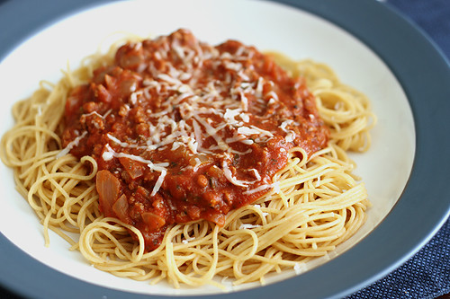 Spaghetti With Meat Sauce  Spaghetti and Meat Sauce