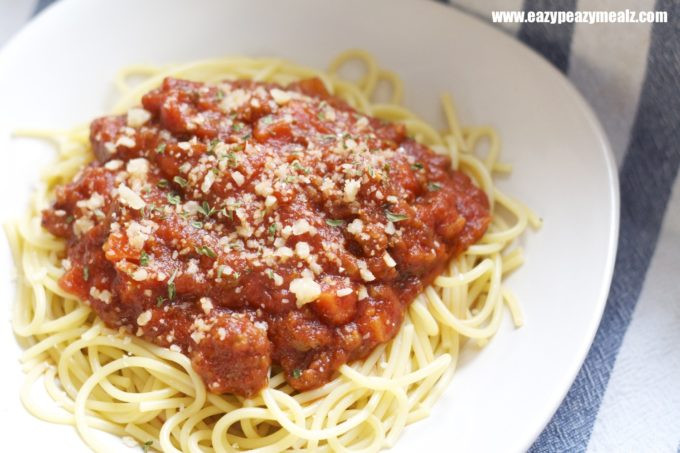 Spaghetti With Meat Sauce  Spaghetti with Meat Sauce Easy Peasy Meals