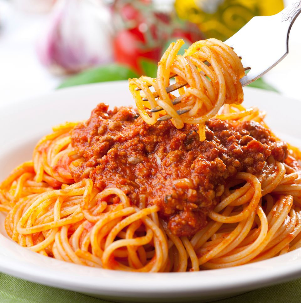 Spaghetti With Meat Sauce  Hearty Bolognese Style Meat Sauce for Pasta