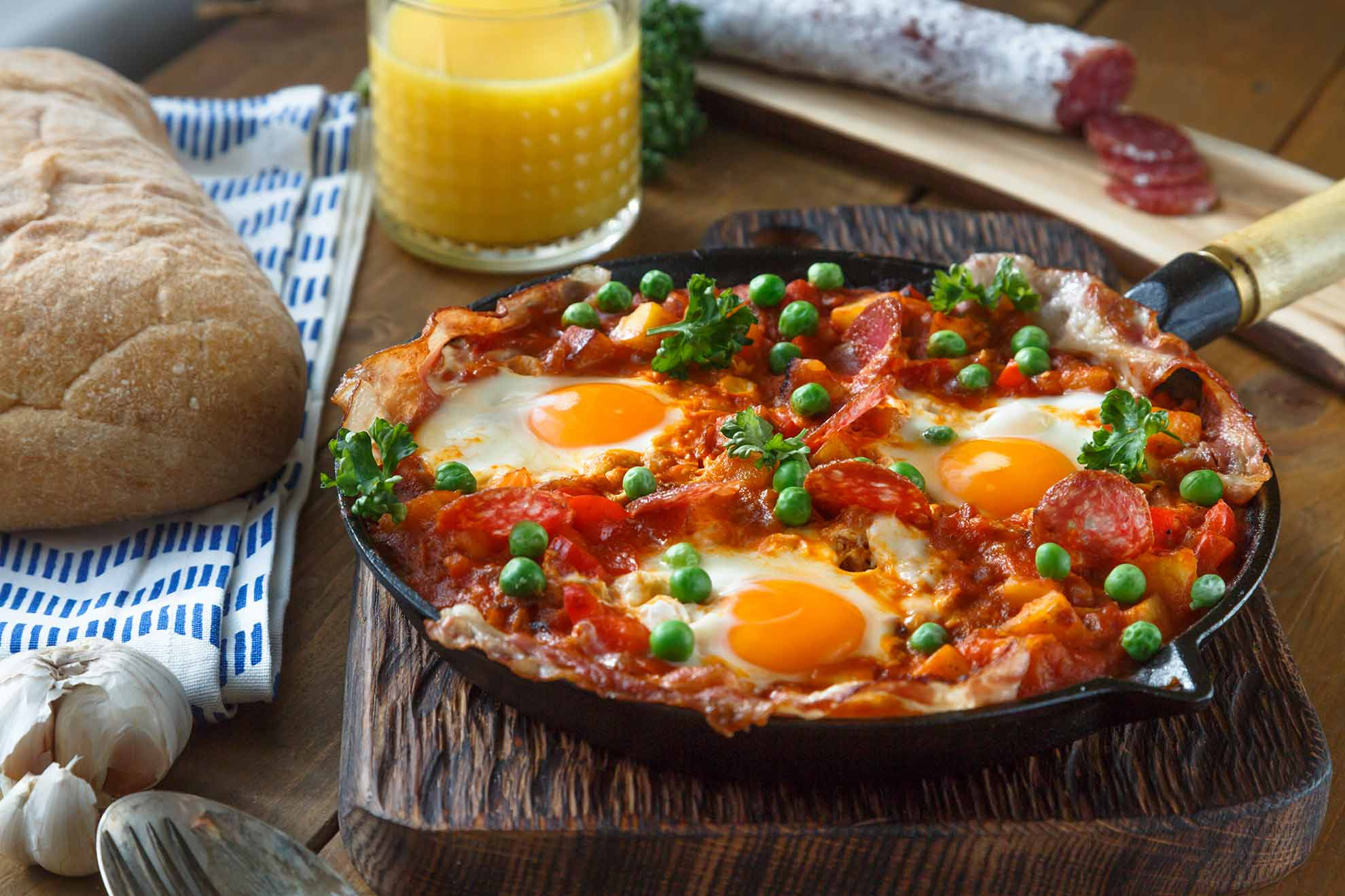 Spanish Breakfast Recipes  Spanish Eggs with Chorizo Mum s Pantry