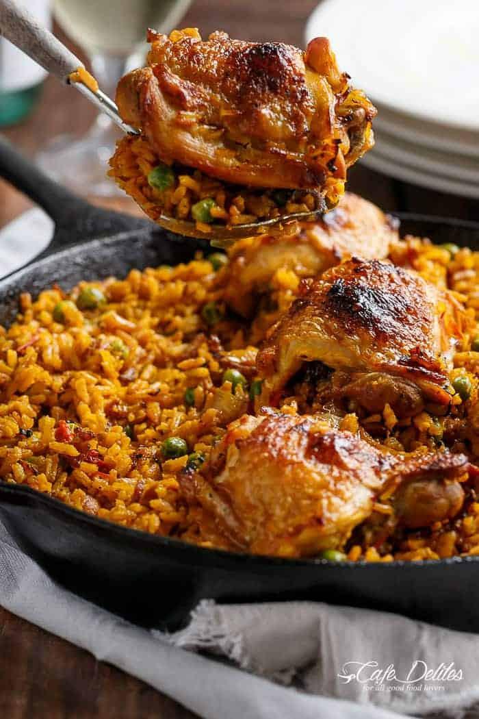 Spanish Chicken And Rice  spanish pan fried chicken