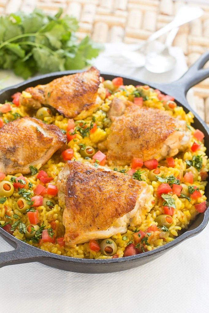 Spanish Chicken And Rice  Spanish Arroz con Pollo Chicken with Rice Dinner at