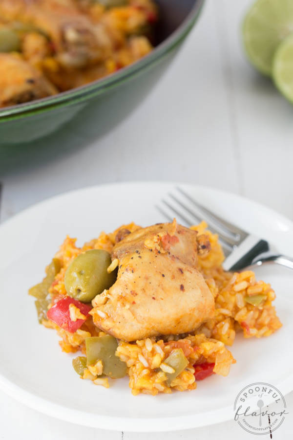 Spanish Chicken And Rice  Spanish Chicken and Rice Spoonful of Flavor
