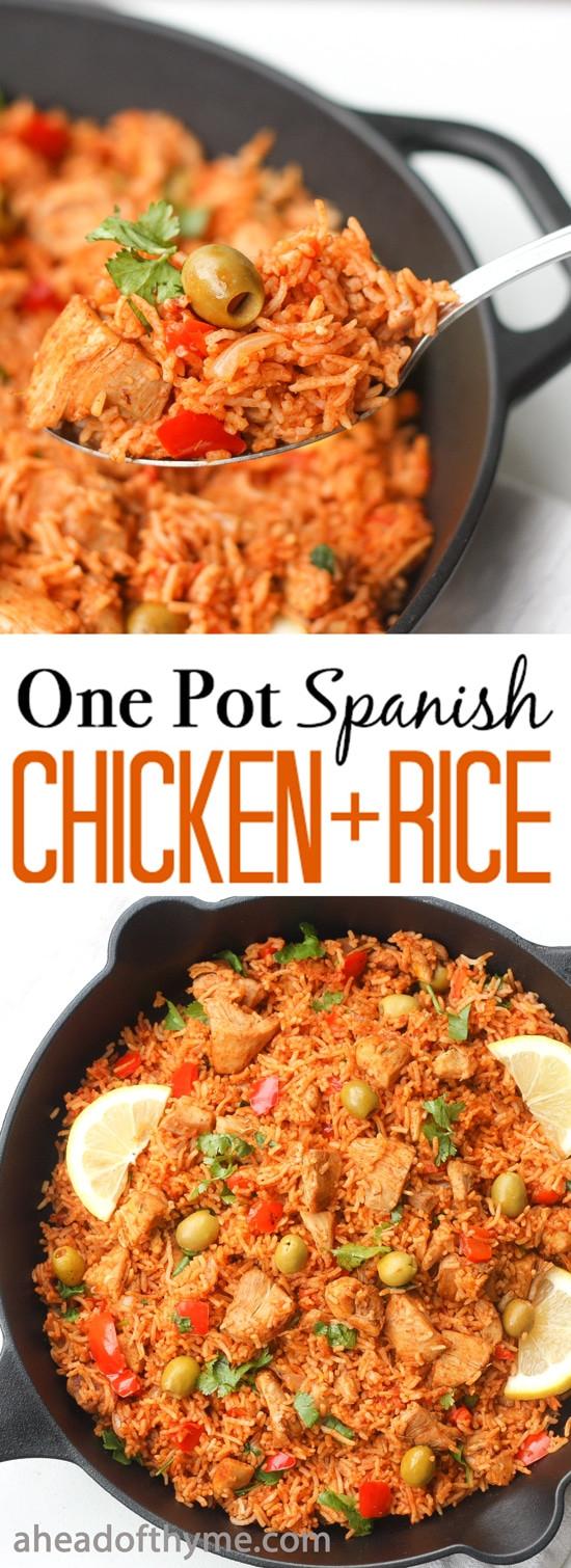 Spanish Chicken And Rice  e Pot Spanish Chicken and Rice