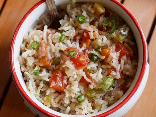 Spanish Fried Rice  spanish rice recipe how to make spanish fried rice recipe