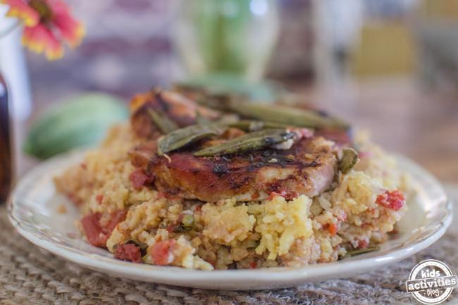 Spanish Pork Chops  Slow Cooker Pork Chops with Spanish Rice