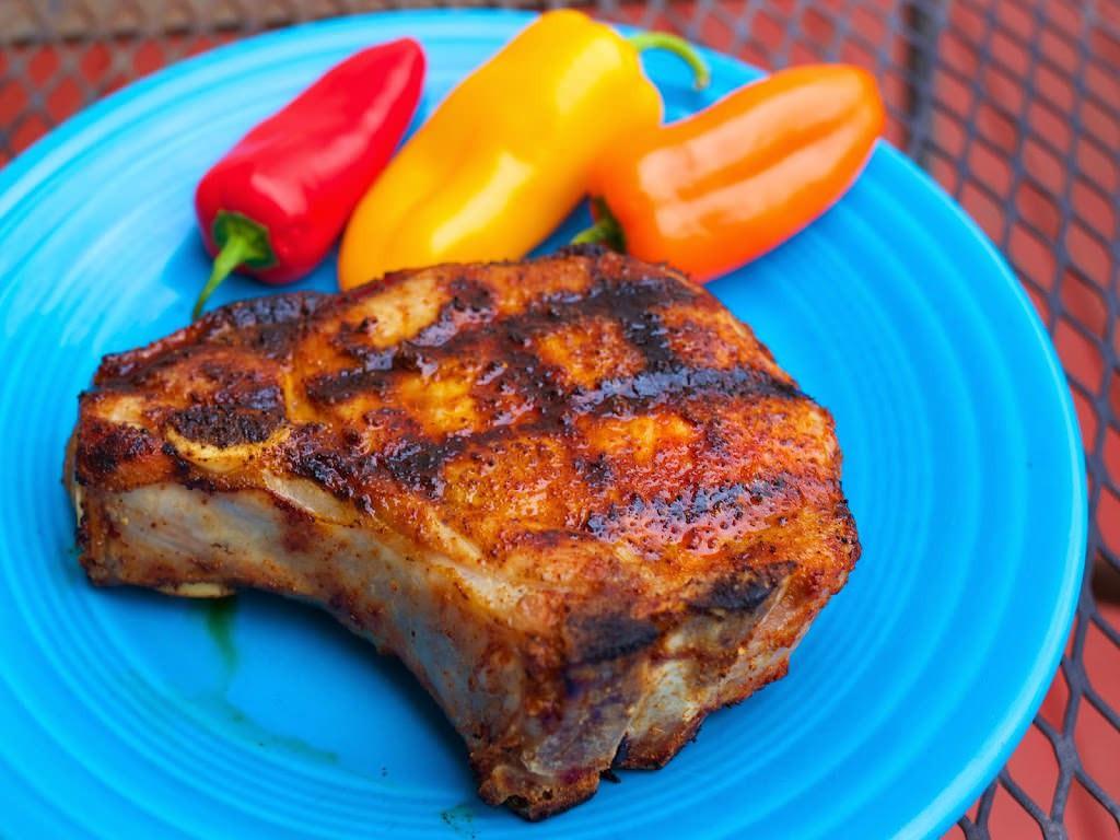 Spanish Pork Chops  Grilled Ribeye Pork Chops with Smoked Spanish Paprika Rub