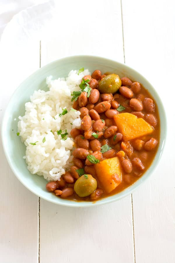 Spanish Rice And Beans Recipe  Puerto Rican Rice and Beans Habichuelas Guisadas