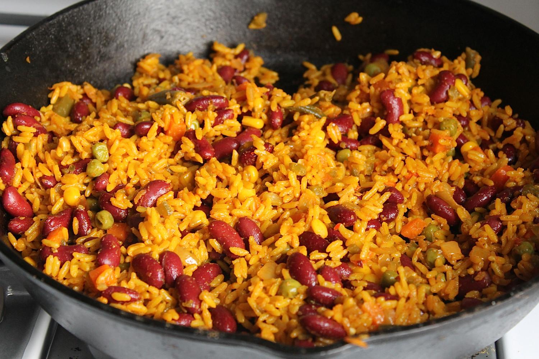 Spanish Rice And Beans Recipe  Sunshine Burrito