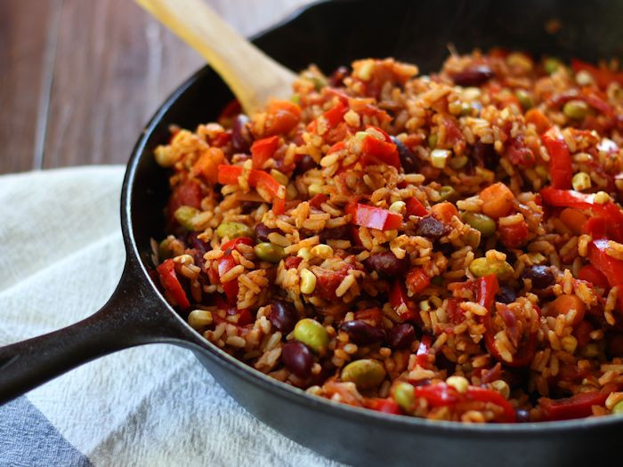 Spanish Rice And Beans Recipe  Mexican Kidney Bean Fried Rice Connoisseurus Veg