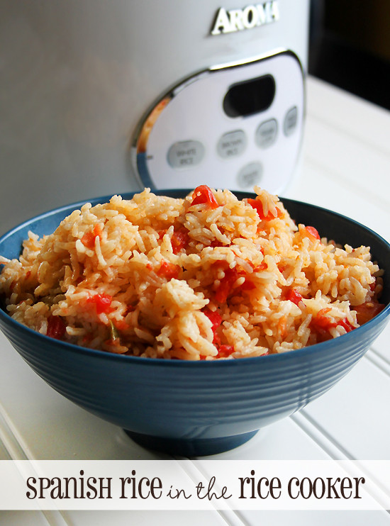 Spanish Rice In A Rice Cooker  Basic Spanish Rice recipe in the Rice Cooker frugal easy