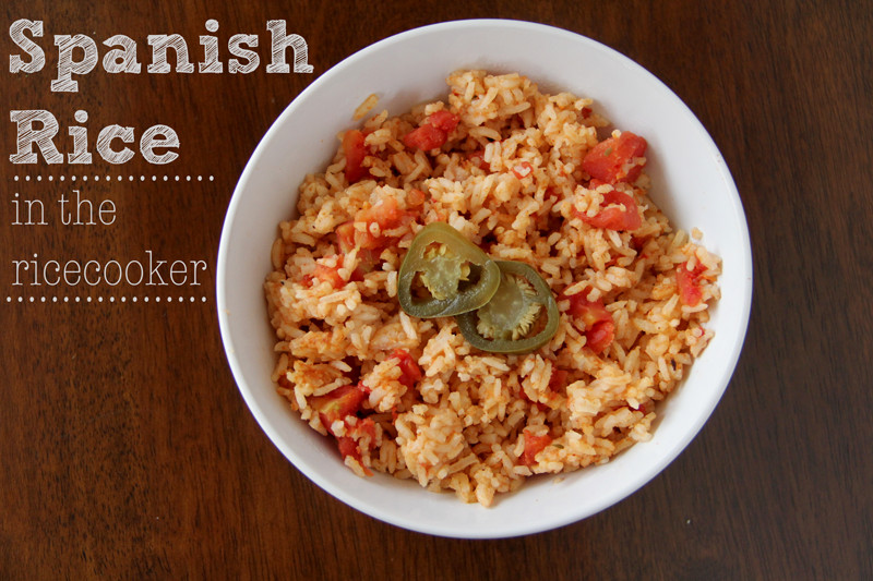 Spanish Rice In A Rice Cooker  Lovely Little Snippets Spanish Rice in the Rice Cooker