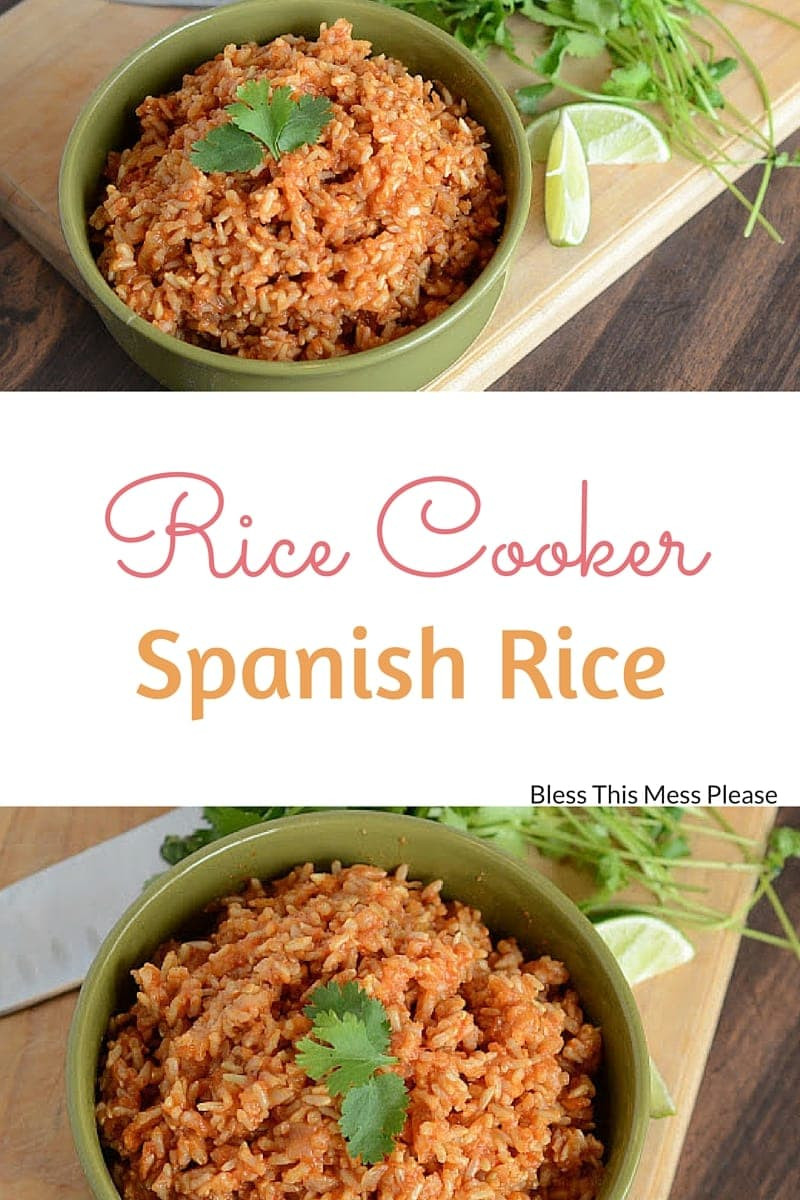 Spanish Rice In A Rice Cooker  Easy Spanish Rice in the Rice Cooker Bless This Mess