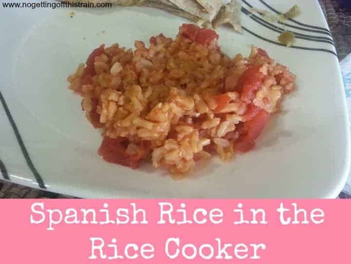 Spanish Rice In A Rice Cooker  Spanish Rice in the Rice Cooker No Getting f This Train