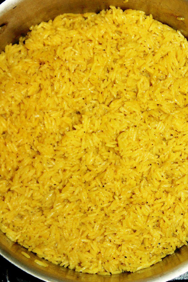 Spanish Yellow Rice Recipe  how to make yellow rice