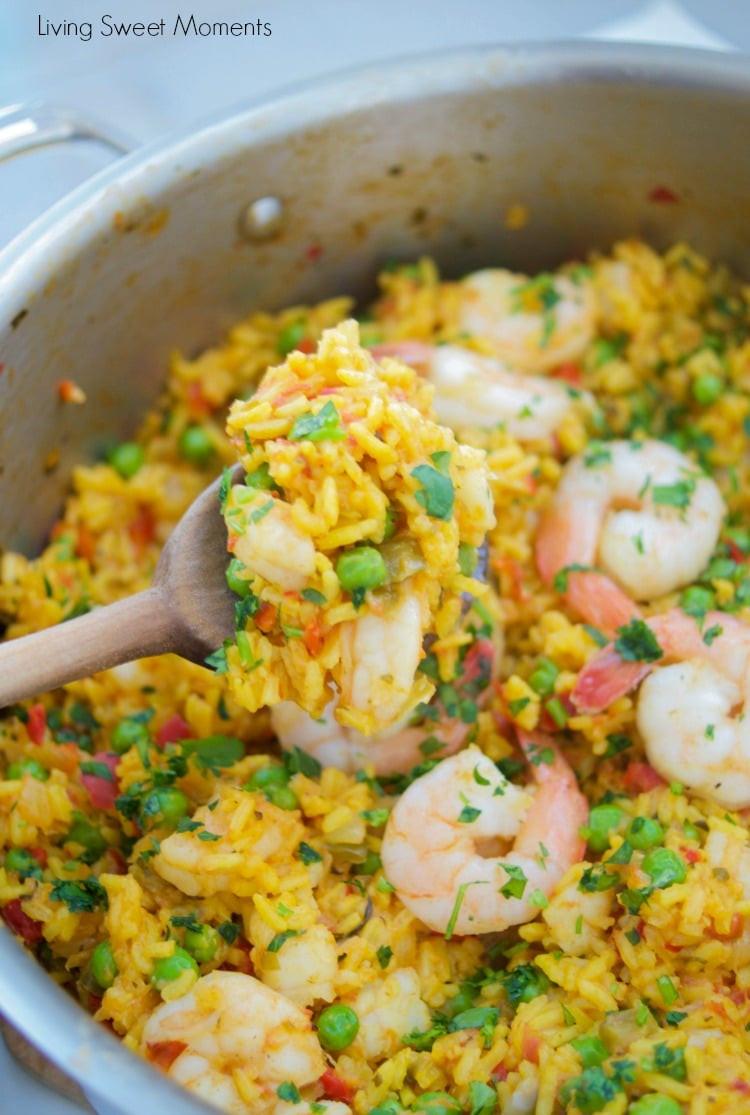 Spanish Yellow Rice Recipe  Succulent Spanish Shrimp With Yellow Rice Living Sweet
