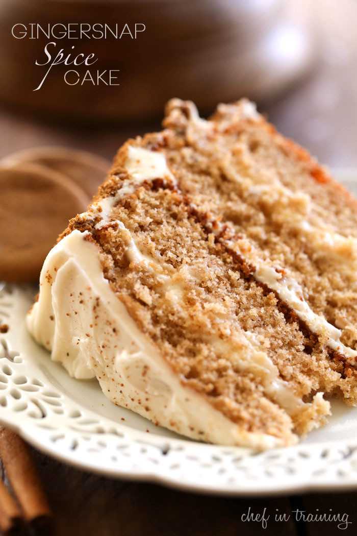 Spice Cake Recipes  Gingersnap Spice Cake Chef in Training
