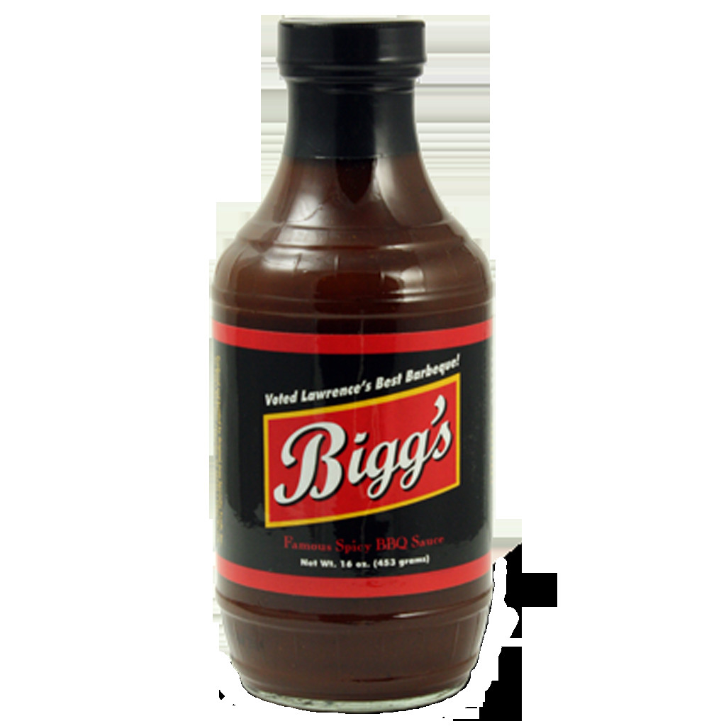 Spicy Bbq Sauce  Bigg s Spicy BBQ Sauce 16 oz The Kansas City BBQ Store