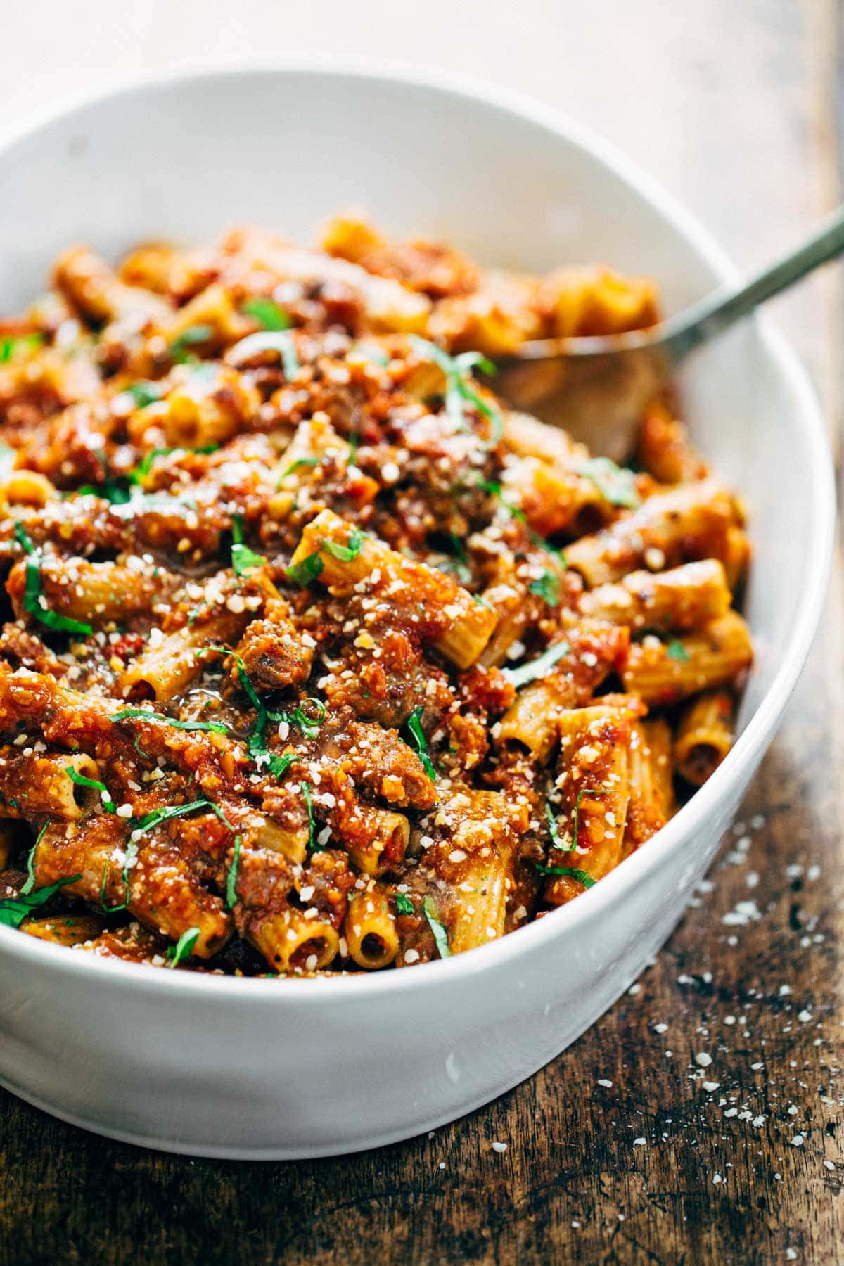 Spicy Dinner Recipes  Spicy Sausage Rigatoni Recipe Pinch of Yum