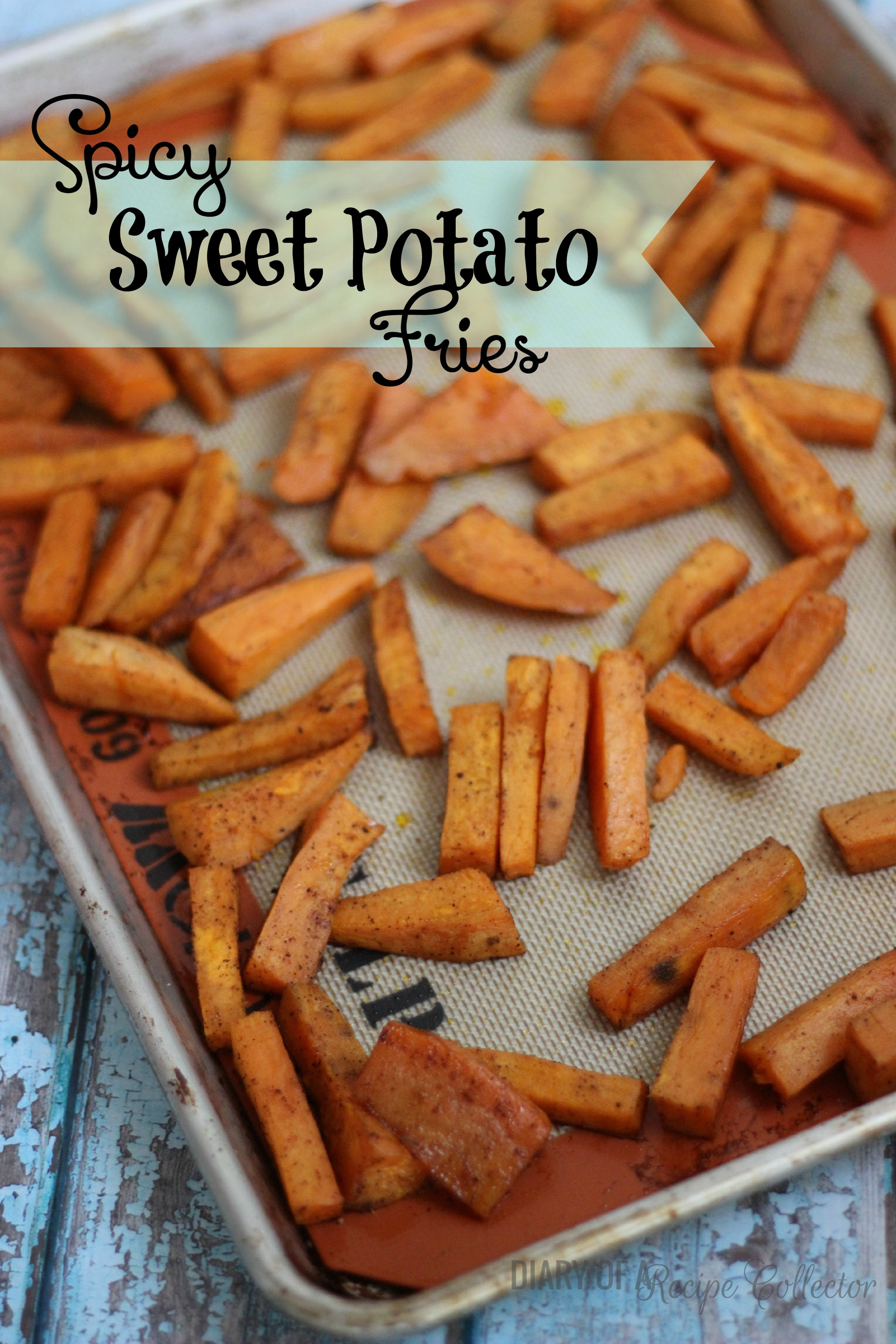 Spicy Sweet Potato Fries  Spicy Sweet Potato Fries Diary of A Recipe Collector